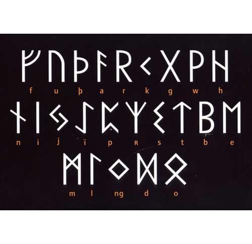 4f10c5494601 Runealfabet fra jernalderen - postkort - Postkort fra Nationalmuseet - Kort  og plakater