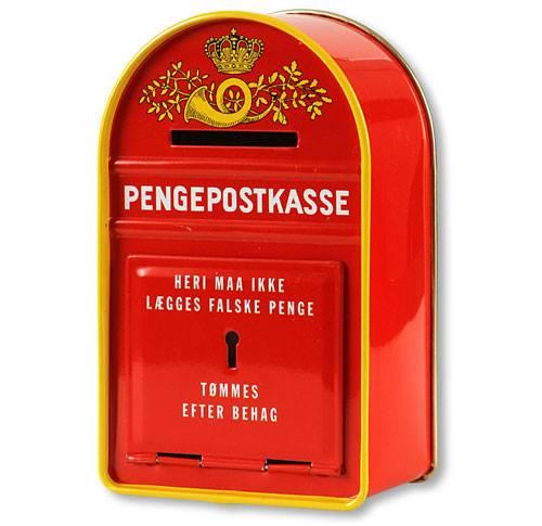 Topmoderne Nostalgisk og håndlavet dansk postkasse som sparebøsse - Leg og XK-53