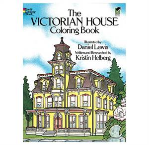 Victorianske huse malebog - The Victorian House Coloring Book