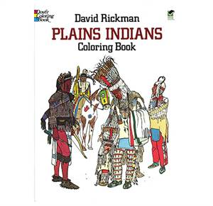 Prærieindianere malebog - Plains Indians coloring book