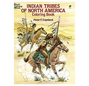 Nordamerikas indianerstammer malebog - Indian Tribes of North America coloring book