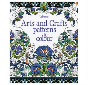 Arts and Crafts patterns to colour - 7+ years